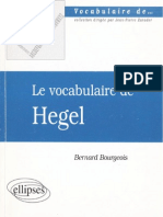 Le Vocabulaire de Hegel