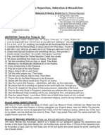 Eucharistic Adoration Sheet