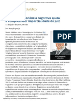 ConJur - Limite Penal_ Dissonância Cognitiva e a Imparcialidade Do Juiz