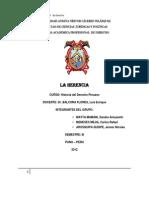 LA HERENCIA Historia Del Derecho Peruano