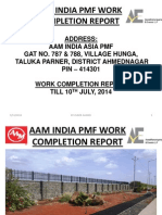 Aam India Pmf Work Completion Report