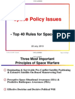 Space Policy-Top 40 Rules for Space War-Unclassified