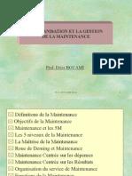 Organisation Maintenance Cours 2011