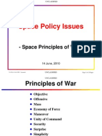 Space Policy-Space Principles of War-Unclassified
