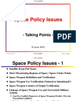 Space Policy Space Issues Unclassified