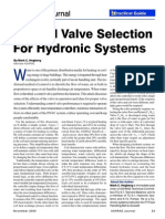 Control Valve Selection For Hydraulic Systems