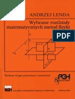 Andrzej Lenda Wybrane Rozdziały Matematycznych Metod Fizyki