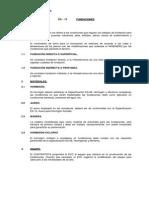 ESPECIFICACIONES FUNDACIONES -TUBULONES