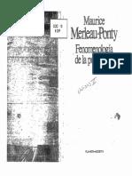 MERLEAU-PONTY, Maurice (1985) - Fenomenología de La Persepción (Cap. 6)