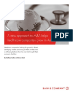 BAIN BRIEF a New Approach to MA Helps Healthcare Companies Grow in Asia