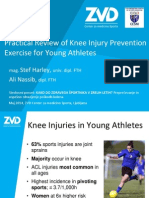 Practical Review of Knee Injury Prevention Exercise for Young Athletes