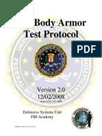 FBI Body Armor Test Protocol 2008