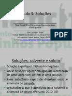 Aula 3 (Soluções) – Físico-química