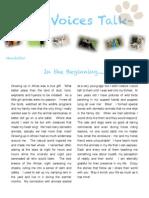 Newsletter Vol 1 July 2014 - WildVoicesTalk