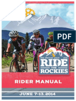 Rider Manual for Ride the Rockies 2014