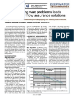 Understanding Wax Problems Leads to Deepwater Flow Assurance Solutions