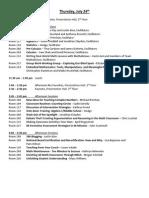 TMC 2014 Schedule