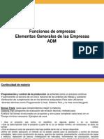 Continuidad Materia Funciones Generales de Empresas
