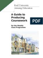 Producing Coursework