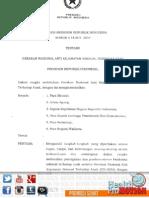 Instruksi Presiden No. 5 Tahun 2014
