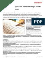 Formulacion Ejecucion Estrategia Balanced Scorecard