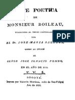 Arte Poetica de Monsieur Boileau