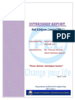 PEL Internship Report (Power Division , Switch-gear,Unit 1)