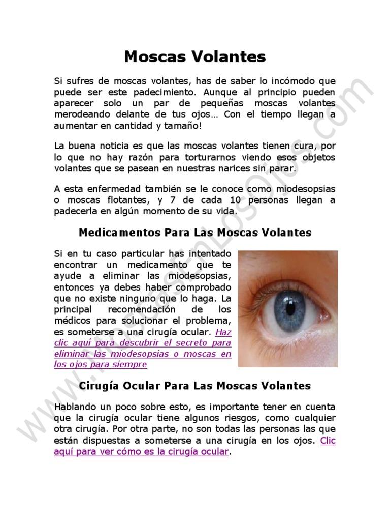 moscas volantes enfermedad en los ojos