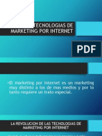Tecnologias de Marketing Por Internet