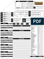 Mufasa Pathfinder Character Sheet