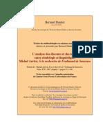 Michel Arrivé - L Analyse Des Discours Et Des Textes Entre Sémiologie Et Linguistique