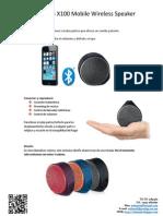 Logitech X100 Mobile Wireless Speaker Bluetooth
