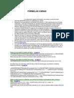 Fórmulas Varias Excel