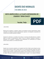Planta Separadora Gran Chaco, Yacuiba 29-04-14