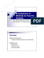 Comparison Feed Fat Analysis