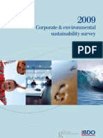 2009 Corporate and Environmental Sustainability Survey