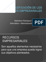 Clasificación de Los Recursos Empresariales - Baltodano Rodríguez Byron