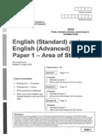 CSSA English Advanced Standard Paper 1 2010