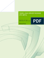 Tegra Linux Driver Package Release Notes R15.Beta
