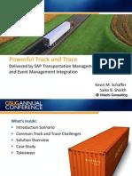 Track and Trace Delivered by SAP Transportation Management and Event Management Integration