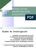 Modelos de Investigación Cualitativa