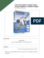 UltraEdit v20.00.0.1041 Español + Portable, Potente Editor de Texto para Programar en Cualquier Lenguaje