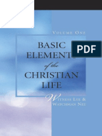 Basic Elements of The Christian Life
