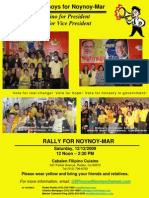 Noynoy-Mar Rally - Cabalen Filipino Cuisine - Dec 12 2009
