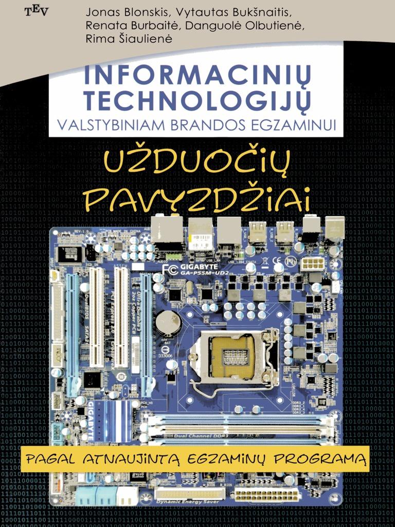 Informaciniu Technologiju Valstybiniam Brandos Egzaminui 2013 By