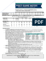07.11.14 Post-Game Notes
