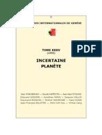 Rencontres Internationales de Genève Incertaine Planète