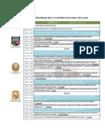 Programa Del IV Congreso Nacional Del Agua-13 y 14 Junio 2013