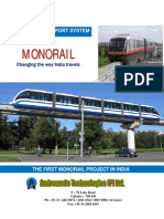 1st Proposed Monorail Project in India-By Andromeda Technologies, Kolkata