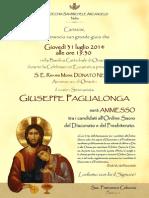 Ammissione Giuseppe Paglialonga